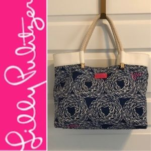 LILLY PULITZER Nautical Canvas Tote